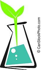 エコロジー, eco, 実験室, isolated., ベクトル, 実験室, ロゴ, logo., アイコン