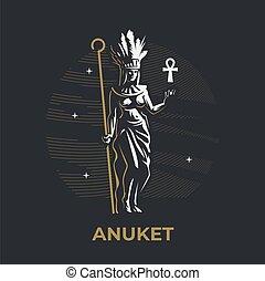 エジプトの女神, anuket.