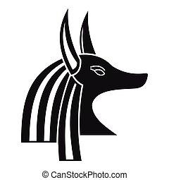 エジプトの神, 単純である, スタイル, アイコン, 古代, anubis