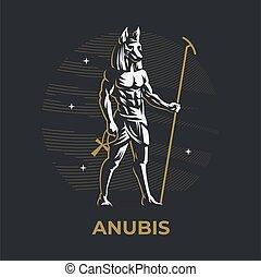 エジプトの神, anubis.