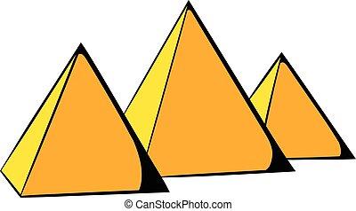 エジプト人, アイコン, 漫画, ピラミッド