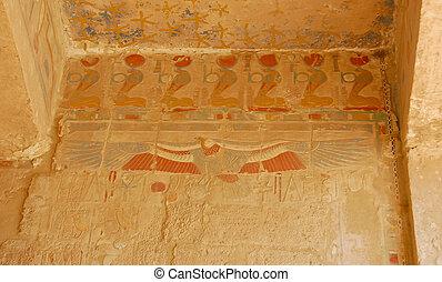 エジプト人, カラフルである, 絵, 救助