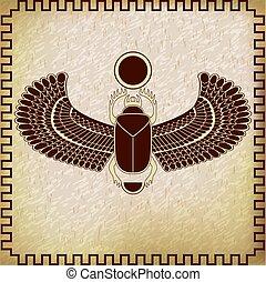 エジプト人, シンボル, オオタマオシコガネ, sun., 神聖, 虫