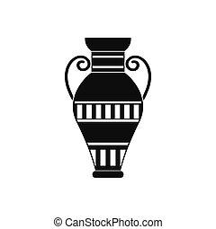 エジプト人, スタイル, つぼ, 単純である, アイコン