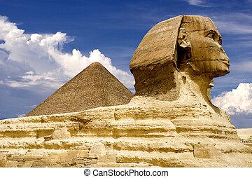 エジプト人, スフィンクス, そして, ピラミッド