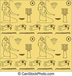 エジプト人, パターン, hieroglyphics