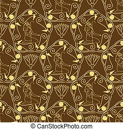 エジプト人, パターン, seamless