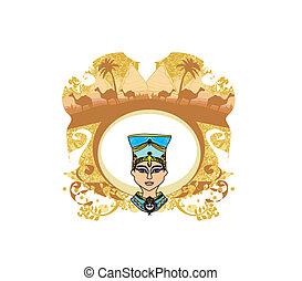 エジプト人, フレーム, 型, 女王