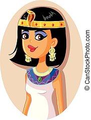 エジプト人, ベクトル, 女王, イラスト, cleopatra