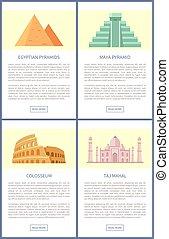 エジプト人, ベクトル, colosseum, イラスト, ピラミッド