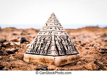 エジプト人, モデル, ピラミッド, ミニチュア
