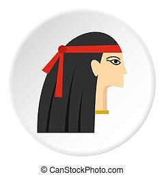 エジプト人, 円, アイコン, 王女