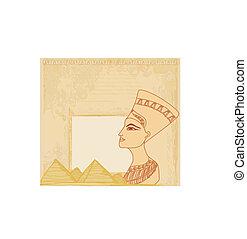 エジプト人, 古い, 女王, ペーパー