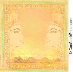 エジプト人, 型, 女王, カード