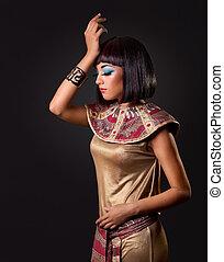 エジプト人, 女性の 肖像画, 美しい