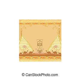 エジプト人, 女王, グランジ, 背景