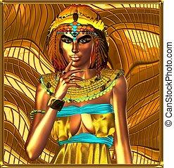 エジプト人, 女王, 金属, 抽象的