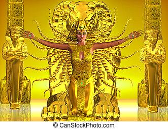 エジプト人, 寺院, 金