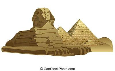 エジプト人, 彫刻, スフィンクス