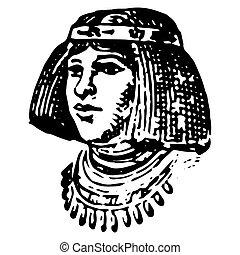 エジプト人, 彫版, 型