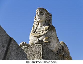エジプト人, 後退, スフィンクス, 公園, 気持が良い