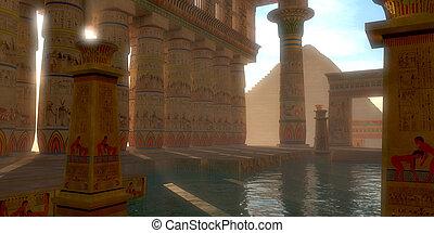 エジプト人, 浴室