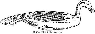 エジプト人, 皿, 型, engraving.