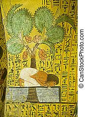 エジプト人, 絵, 古代, ナイル