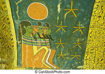 エジプト人, 絵, 古代, 墓