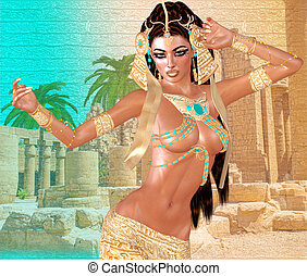 エジプト人, cleopatra, ファンタジー
