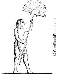 エジプト人, engraving., ファン, 型