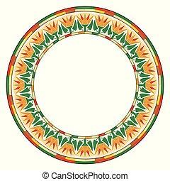 エジプト人, ornament., 円