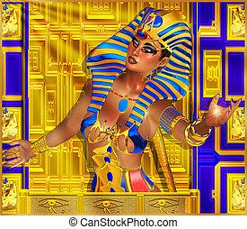 エジプト人, ra, 太陽, bestows, 神は放射する