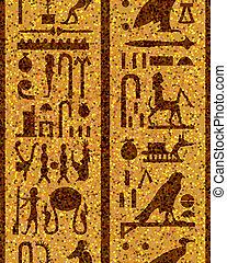 エジプト人, seamless, 象形文字