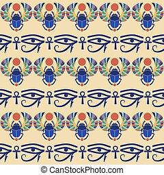 エジプト人, seamless, ornament., バックグラウンド。