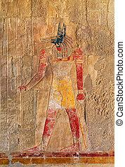 エジプト, イメージを彩色しなさい, 古代, anubis