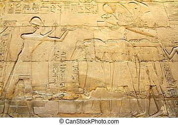 エジプト, イメージ, 古代, 寺院, karnak