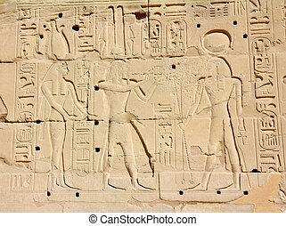 エジプト, イメージ, 古代, hieroglyphics