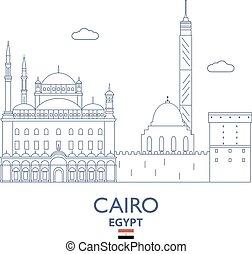 エジプト, カイロ, スカイライン, 都市