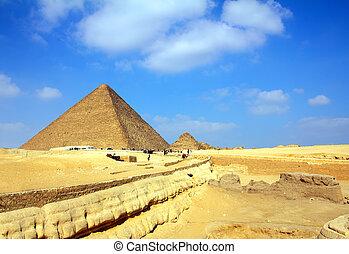 エジプト, カイロ, ピラミッド, ギザ