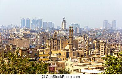 エジプト, カイロ, 光景, -, イスラム教