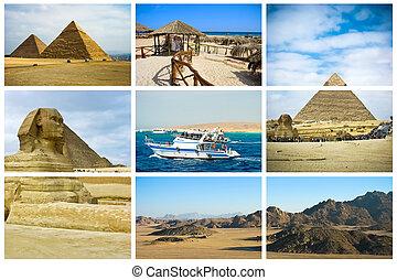 エジプト, コラージュ