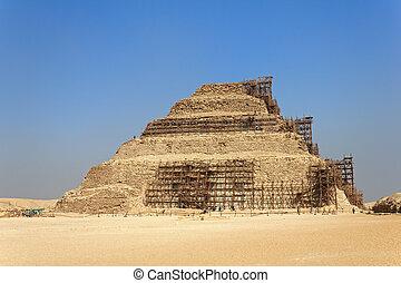 エジプト, ピラミッド, saqqara, djoser, 修復