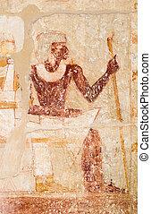 エジプト, ファラオ, saqqara, 壁, 映像