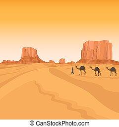 エジプト, ラクダ, サハラ砂漠