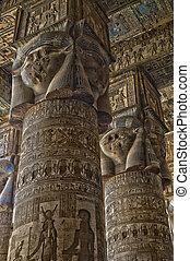 エジプト, 内部, 古代, dendera, 寺院
