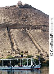 エジプト, 写真, 旅行, -, aswan