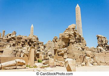 エジプト, 古代台なし, 寺院, karnak