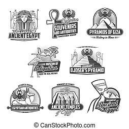 エジプト, 古代, 神, 遺物, 博物館, 文化