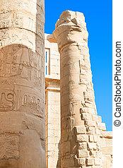 エジプト, 台なし, 寺院, karnak